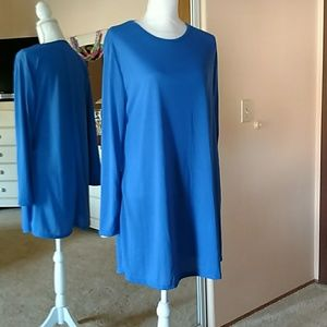 Tops - Blue long sleeved tunic